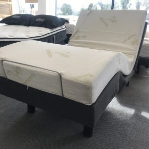 Deluxe Long Single Adjustable Frame with Memory Foam Mattress